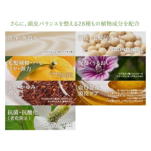 マイナチュレシャンプー28種の植物成分